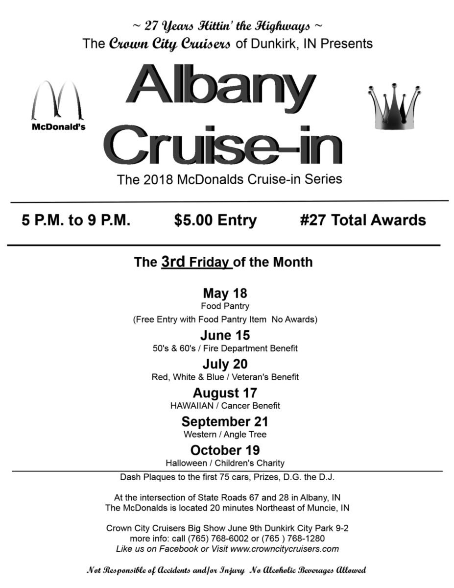 Albany McDonald\'s Cruise-in Series: Western Night | Crown City Cruisers