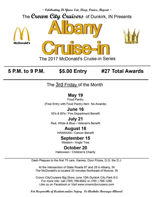 Albany McDonald's Cruise-in Series: Red, White & Blue Night | Crown